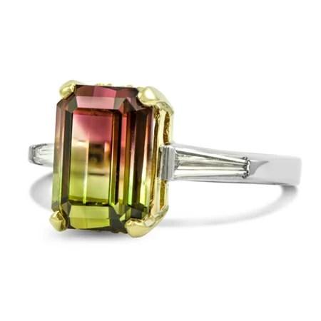 Custom Watermelon Tourmaline Ring Wixon Jewelers