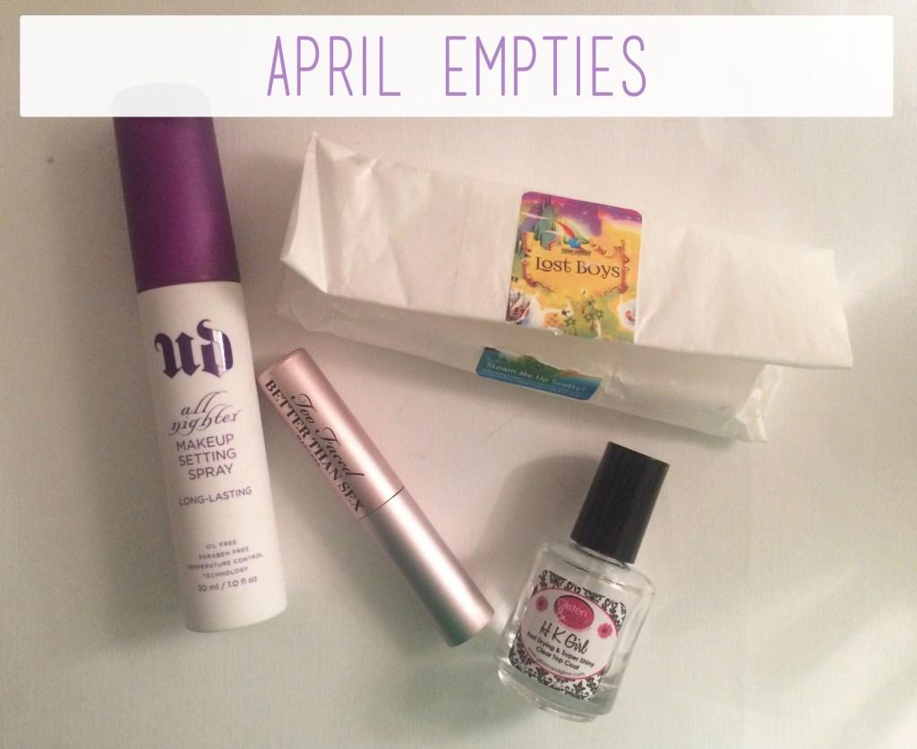 April Empties Overview   The Rebel Planner