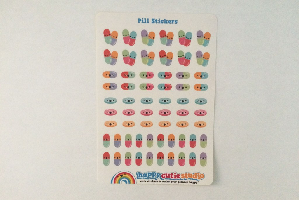 Pill Stickers | The Rebel Planner