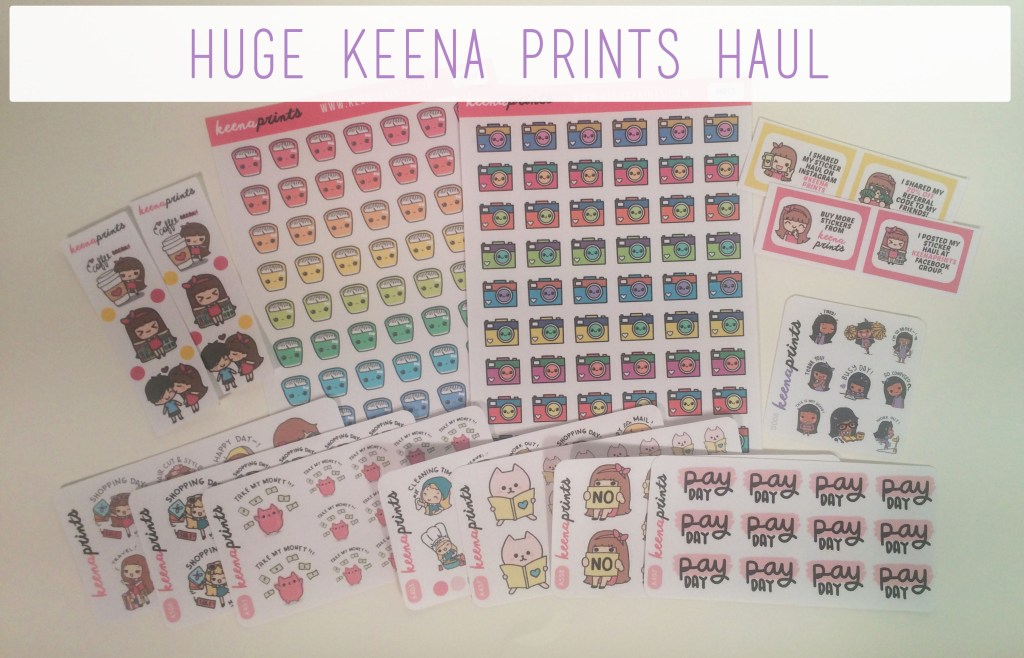 Keena Prints Haul | The Rebel Planner