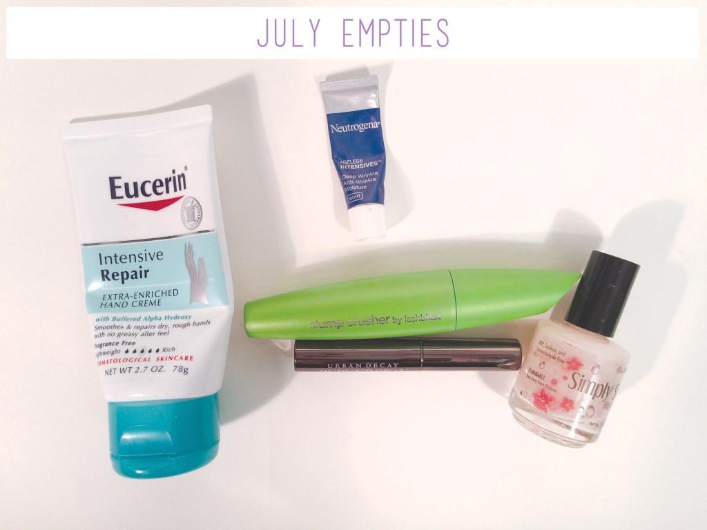 July Empties | The Rebel Planner