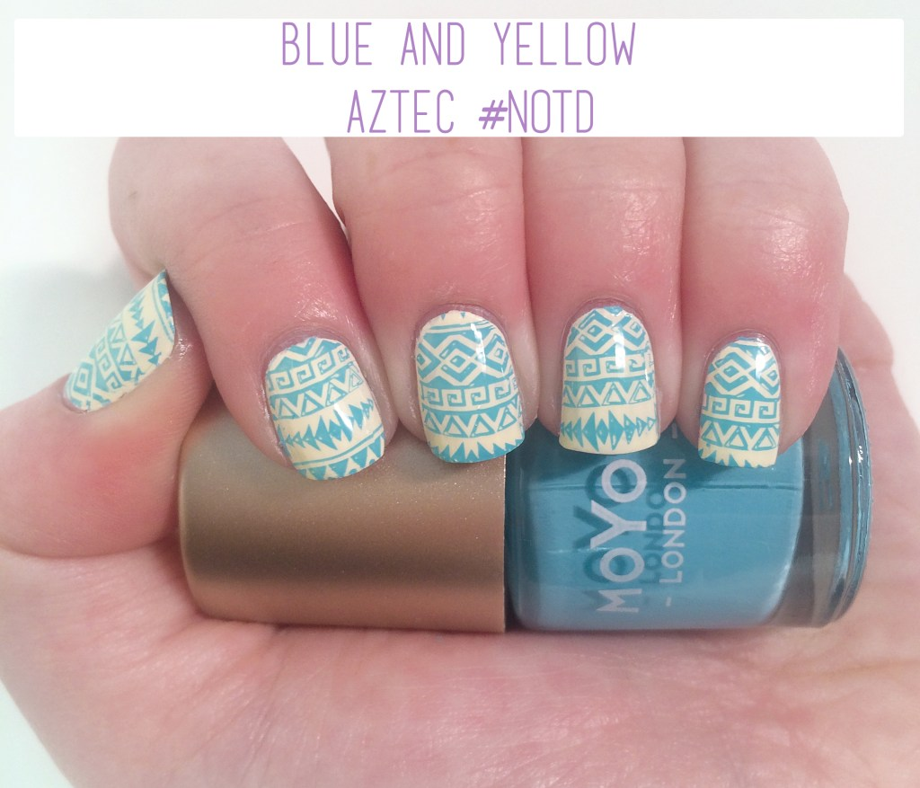 Blue and Yellow Aztec #NOTD | The Rebel Planner
