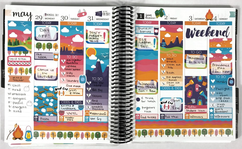 A Couple of Weeks in My Erin Condren: Catch Up Spreads   The Rebel Planner