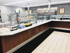 WizKid Runner Mat in Cafeteria Food Service Area