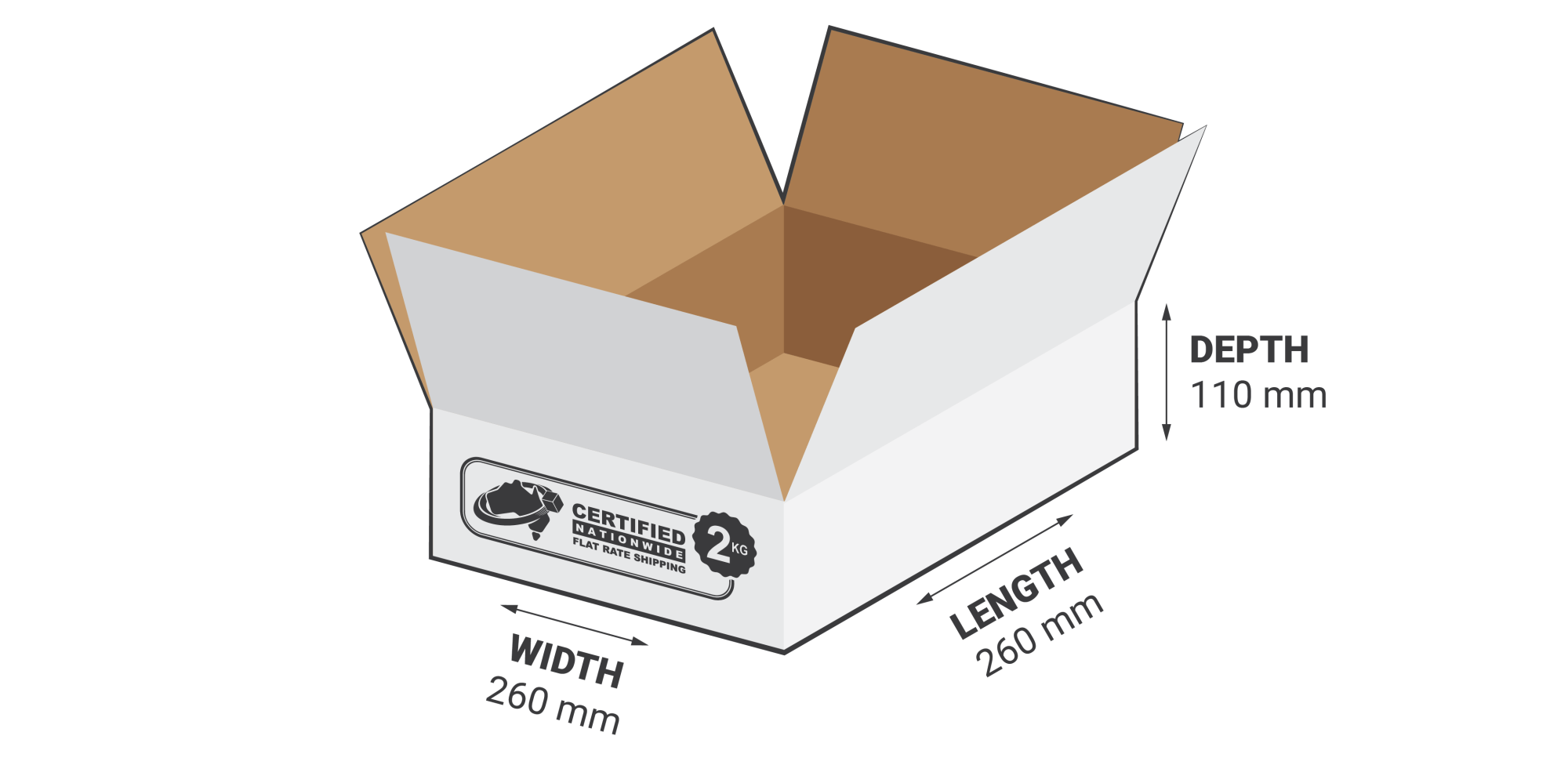 hight resolution of 2kg flat rate boxes 7 44l regular slotted carton