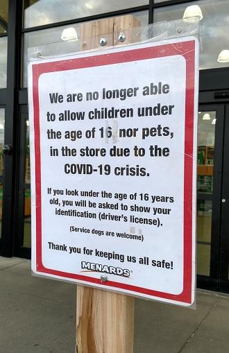 Menards Bans Kids Under 16 To Help Slow Covid 19 Spread Wizm 92 3fm 1410am