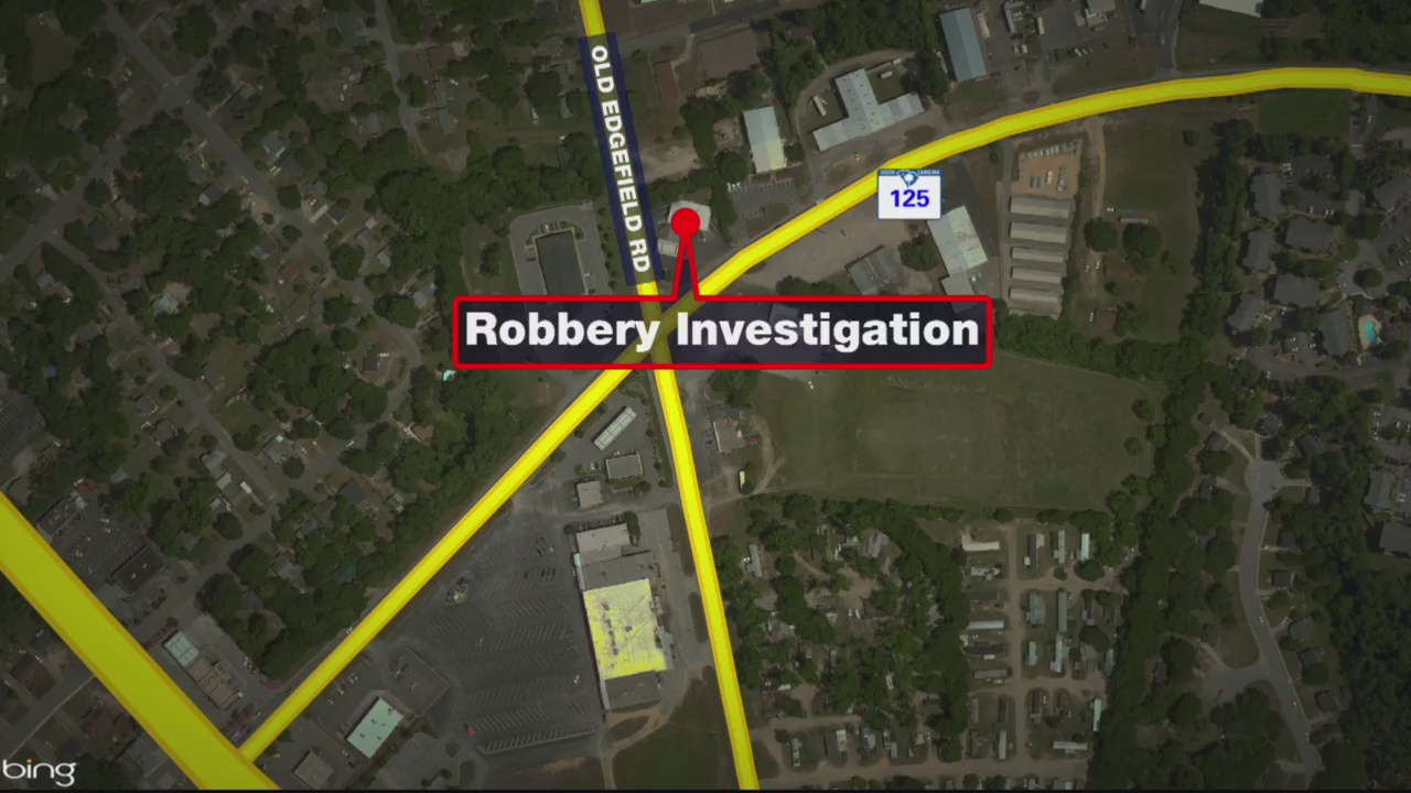 Investigators on scene of armed robbery in North Augusta, 2 wanted