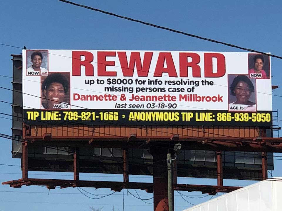 Millbrook Twins now up on billboard, reward offered