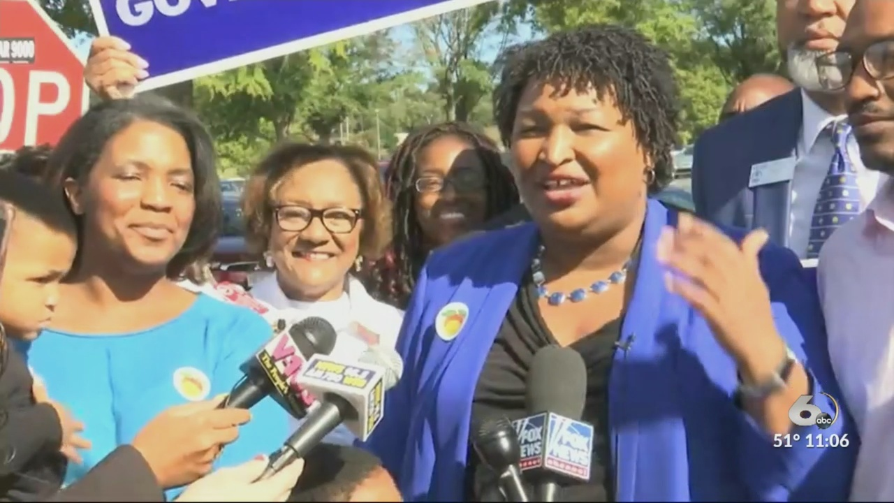 GA Governor Candidate Stacey Abrams casts ballot early