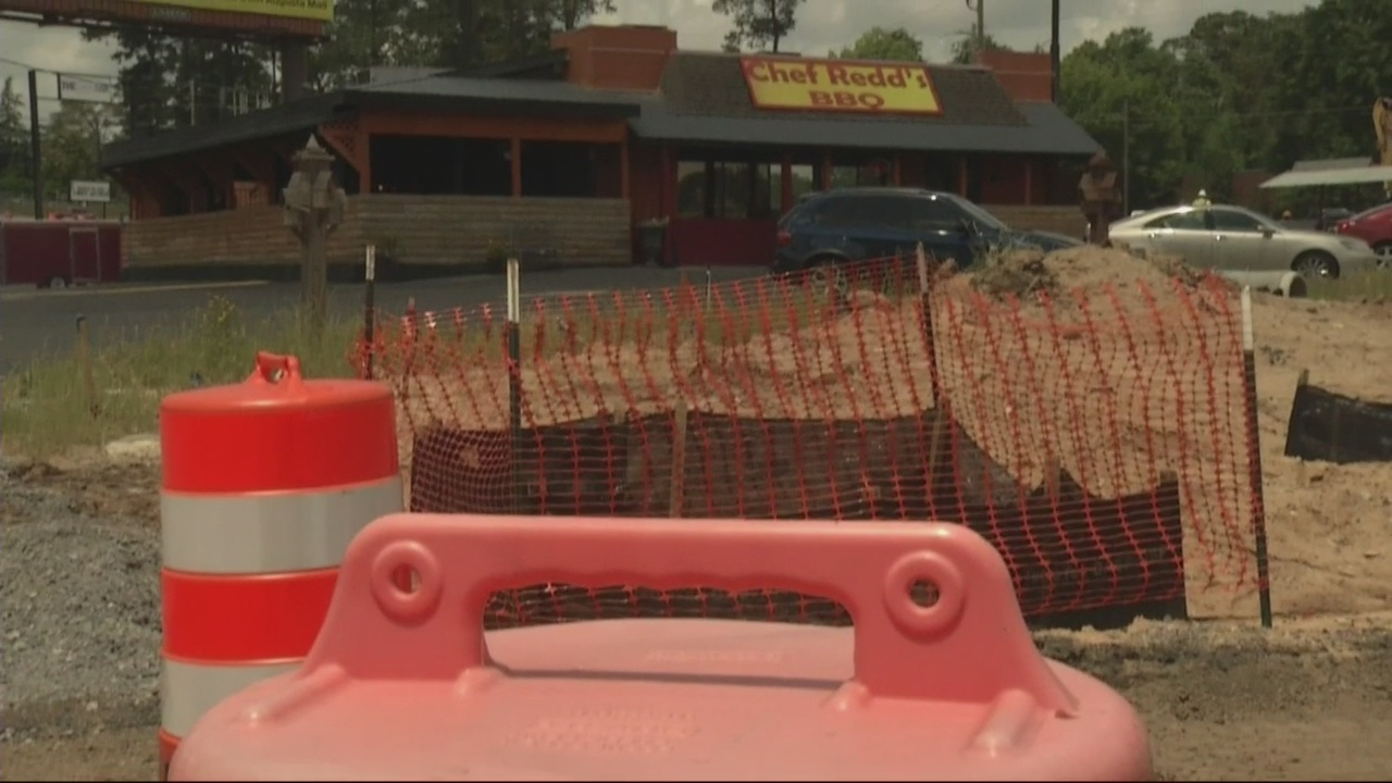 Wrightsboro Road businesses talk impact of road work.