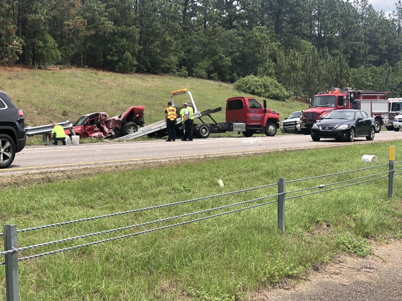 I-20 Accident Slows Traffic   WJBF