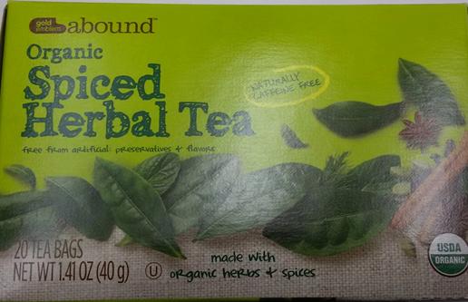 Gold Emblem Abound Organic Spiced Herbal Tea_143677