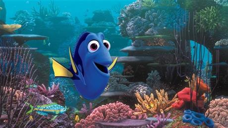 This image released by Disney shows the character Dory, voiced by Ellen DeGeneres, in a scene from _Finding Dory._ The Pixar sequel far-surpass_170144