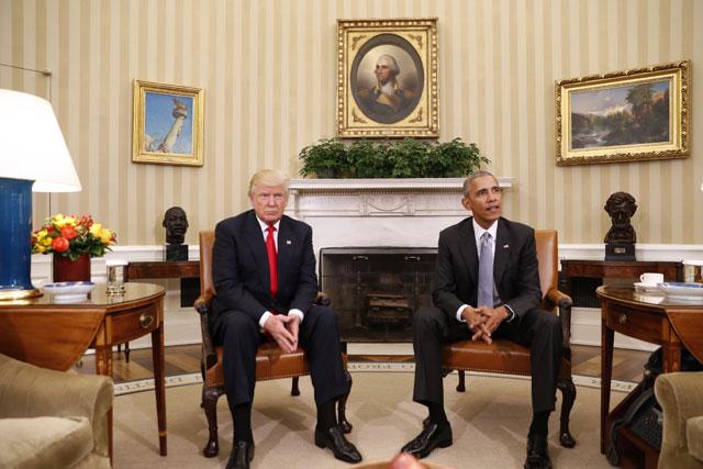 Donald Trump and Barack Obama_235805