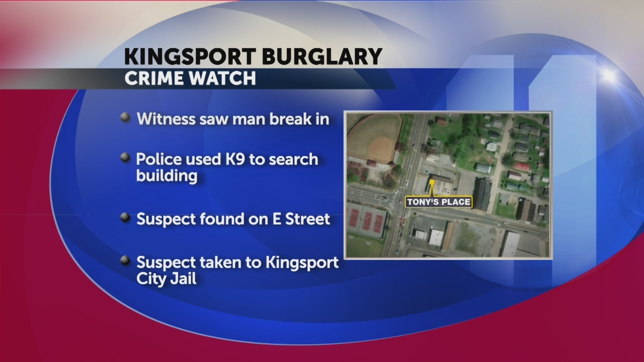 Man arrested in connection to burglary overnight in Kingsport
