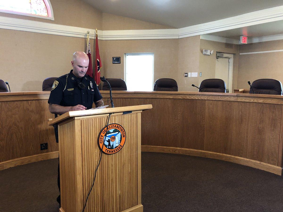 Elzabethton Police Chief Jason Shaw