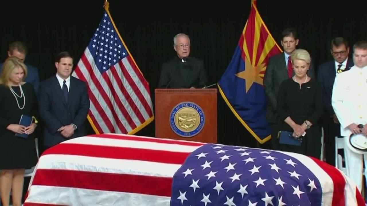 Sen. John McCain lying in state at the Arizona Capital