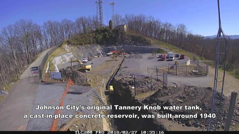 TIME LAPSE VIDEO: Tannery Knob 5 million gallon water tank construction
