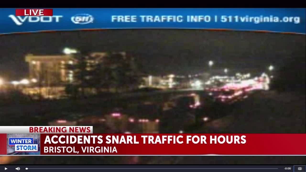 VDOT says I-81 northbound blocked in multiple locations