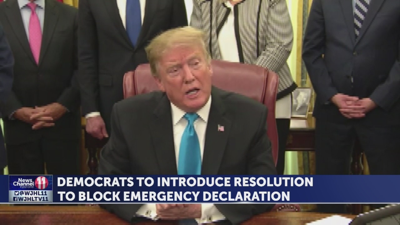 Democrats' resolution against Trump emergency coming Friday