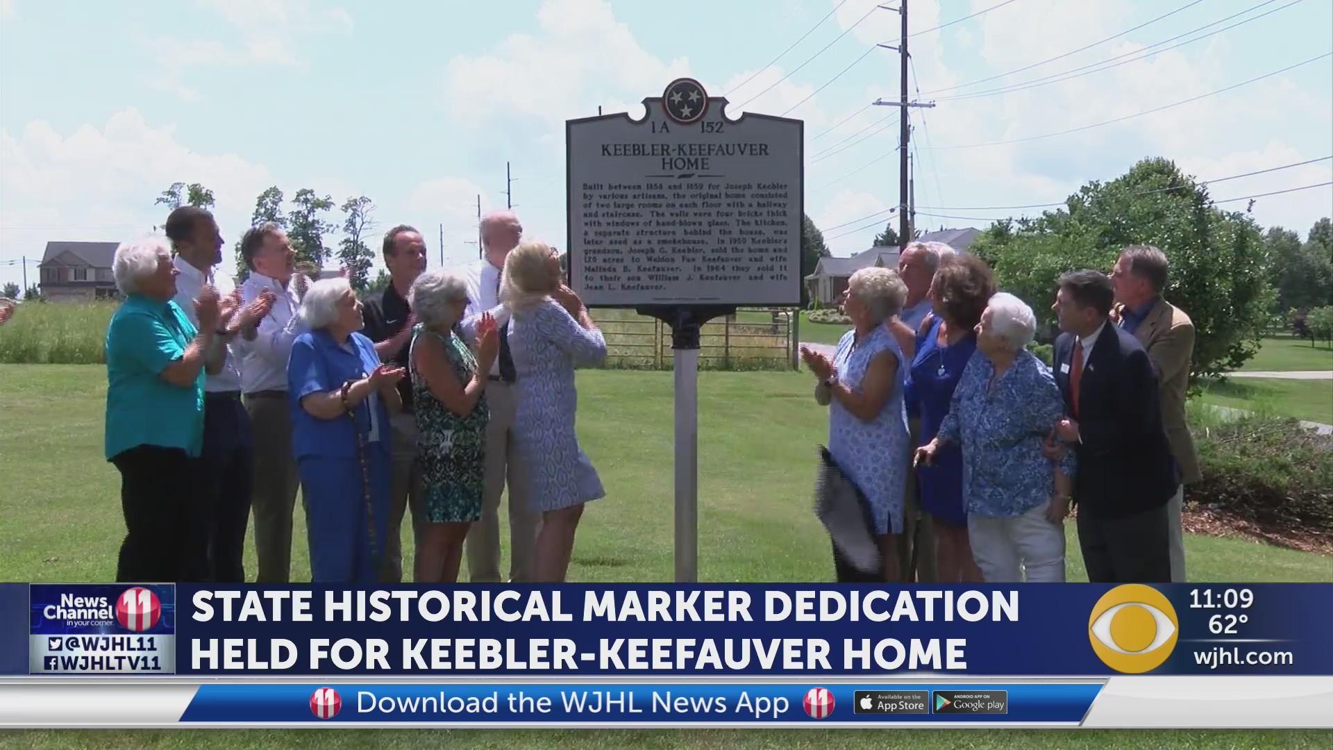Keebler-Keefauver Home receives marker.