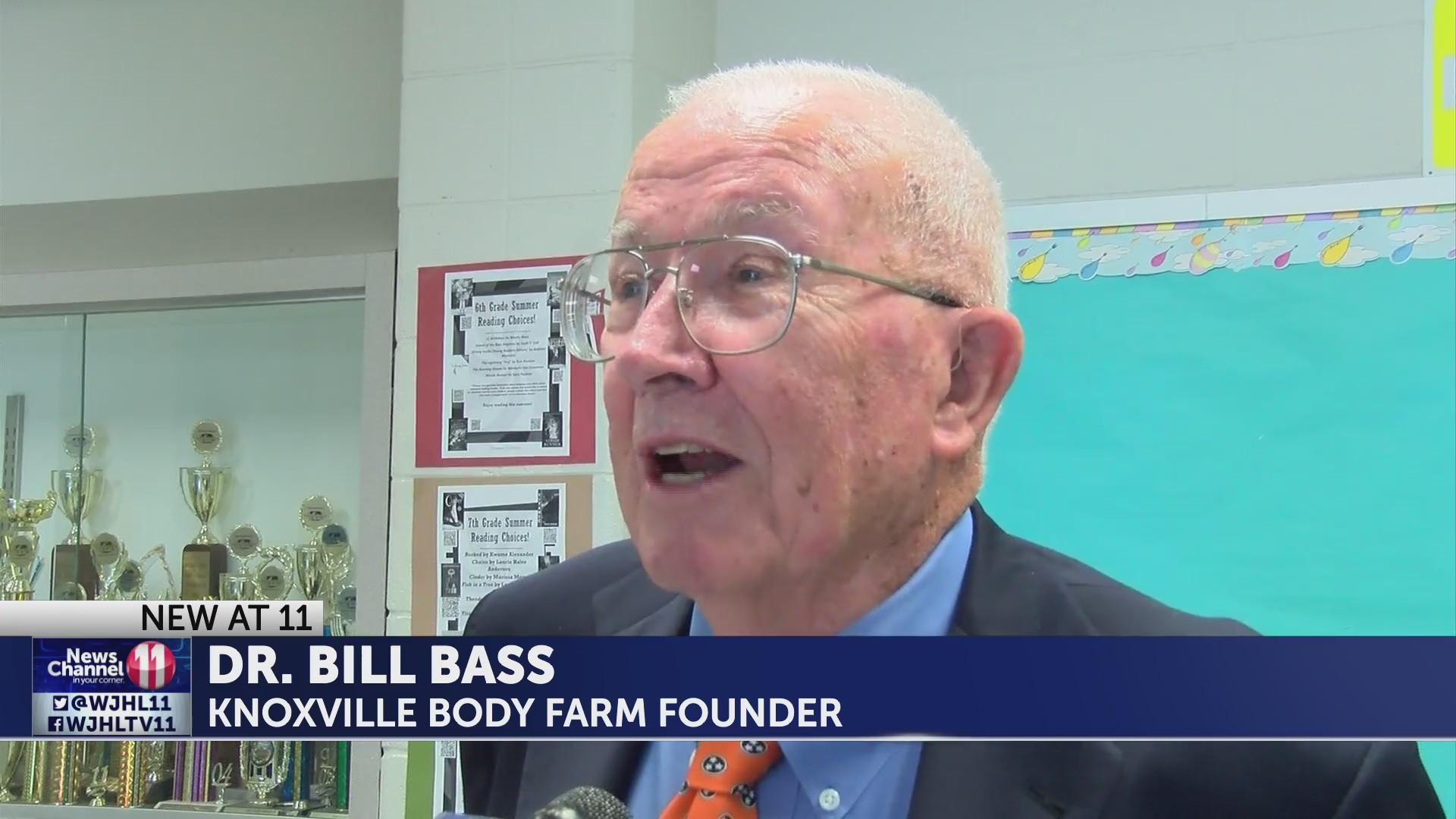 UT Body Farm founder Bill Bass speaks at event in Kingsport