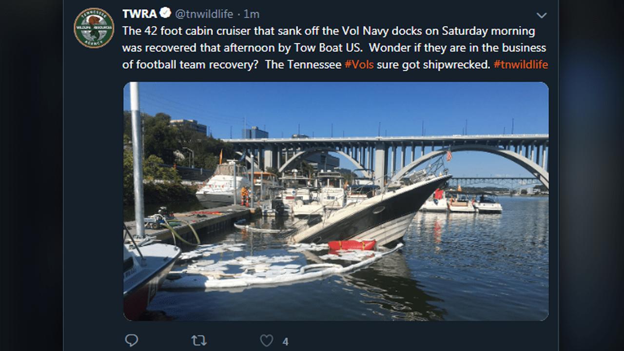 TWRA apologizes for tweet dissing UT football | WJHL | Tri