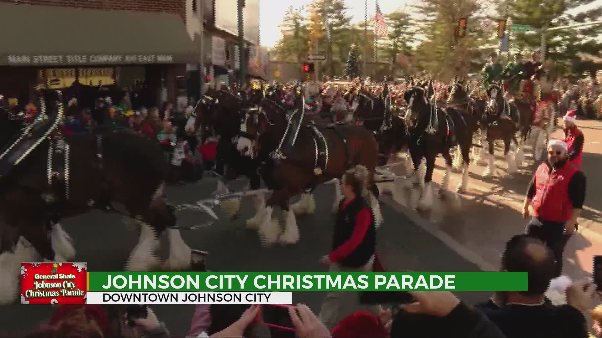 WATCH: Johnson City Christmas Parade & Budweiser Clydesdales
