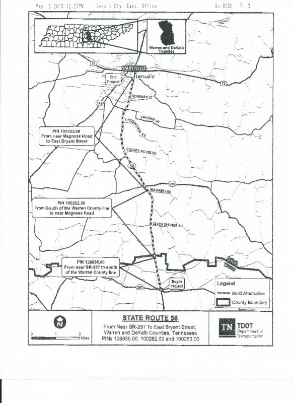 TDOT to Host Design Public Meeting on Highway 56