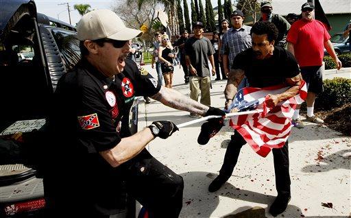 KKK Protest-Stabbing_142745