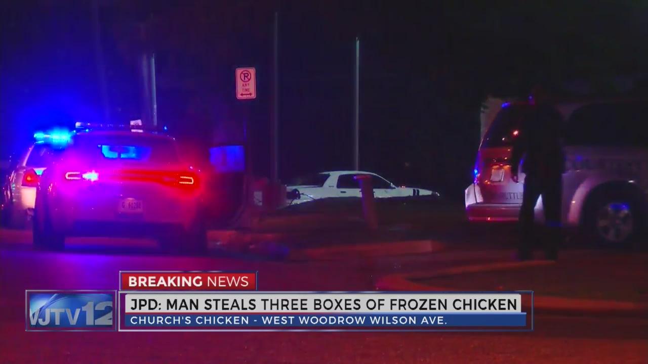 Man Steals Chicken from Church's Chicken_184175