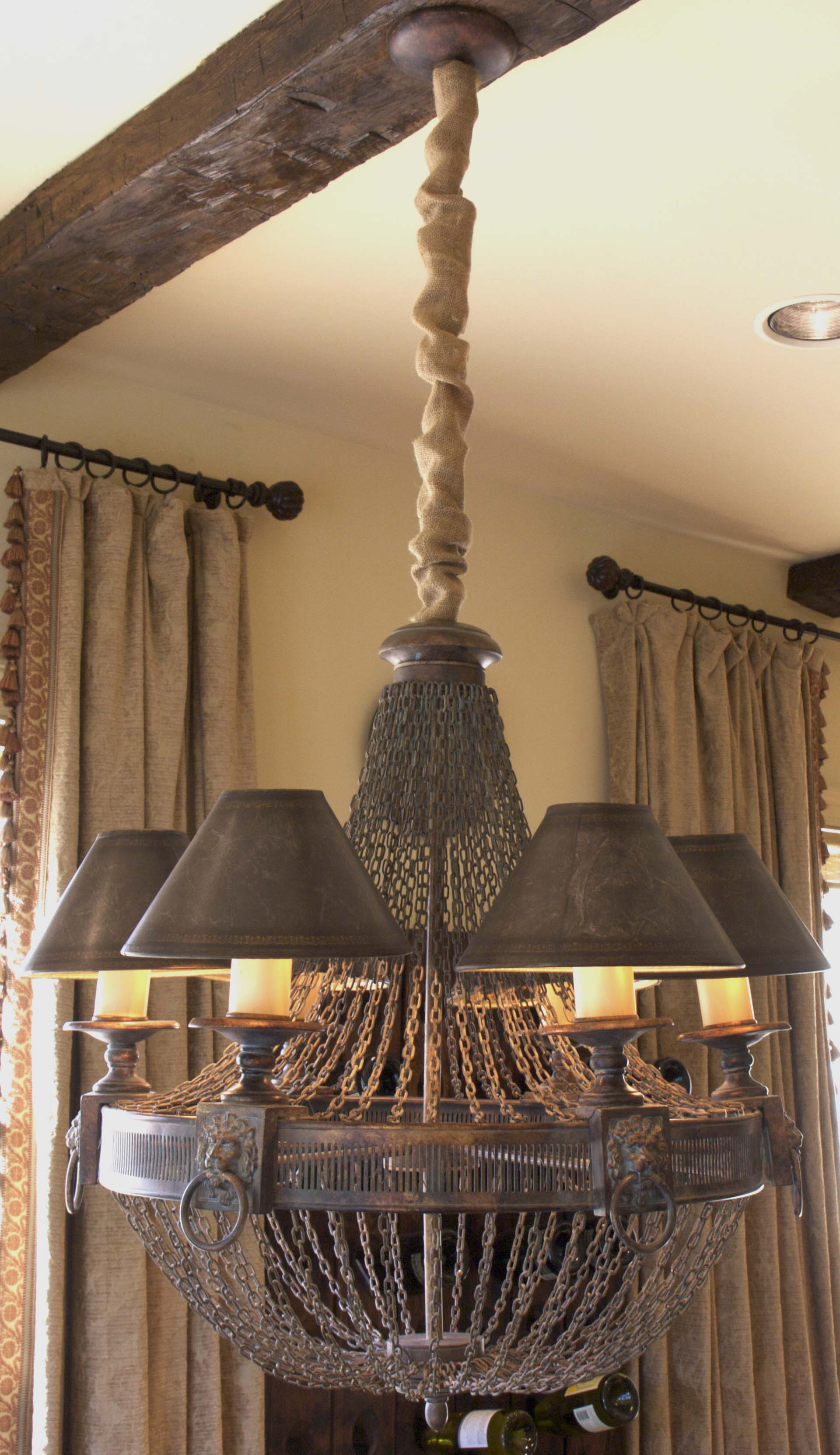 Cord Covers by WK Chandelier Chain Cover