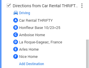 FRANCE 2016 TRAVEL MAP driving directions