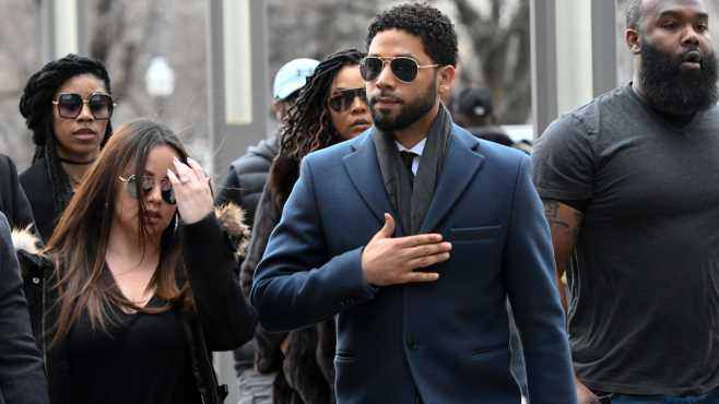 Jussie Smollett with lawyers
