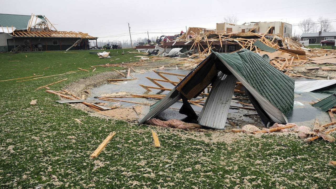 Shelby, Ohio storm damage