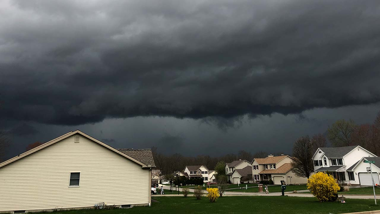 Storm clouds in Austintown, Ohio