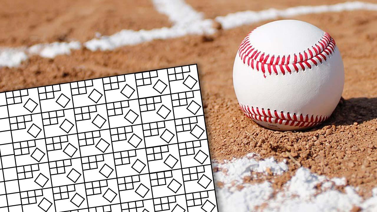 Generic Baseball Scorecard