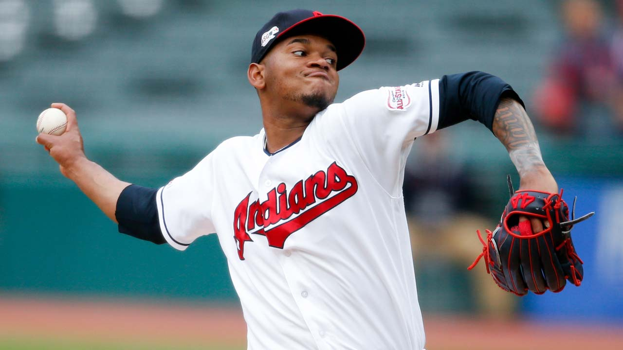 Cleveland Indians starting pitcher Jefry Rodriguez