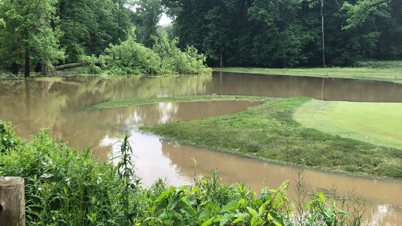 Mill Creek Golf Course flooded