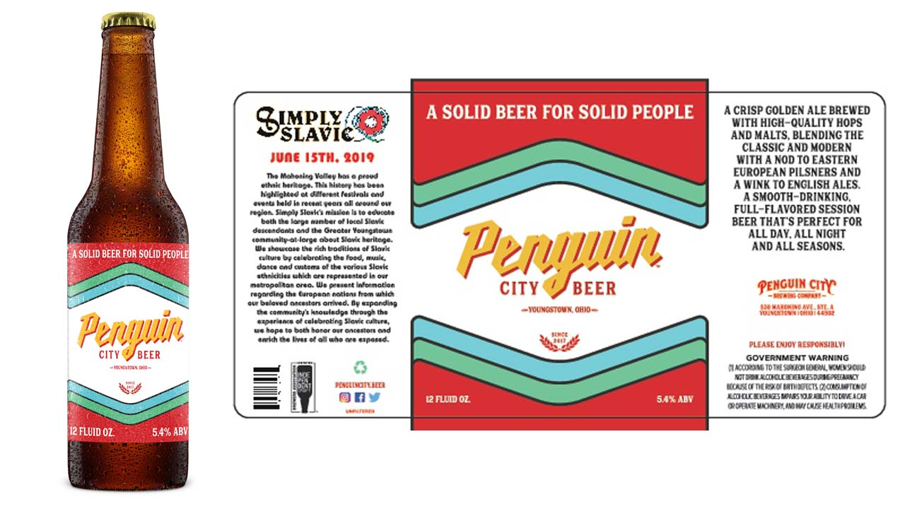 Penguin City Beer Label