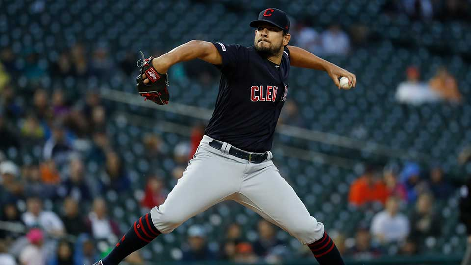 Cleveland Indians relief pitcher Brad Hand