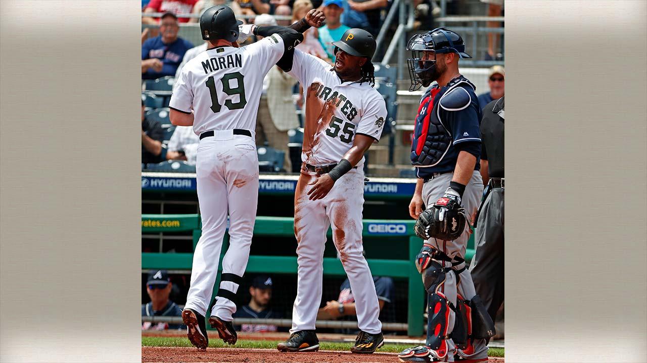 Pittsburgh Pirates' Colin Moran, Josh Bell