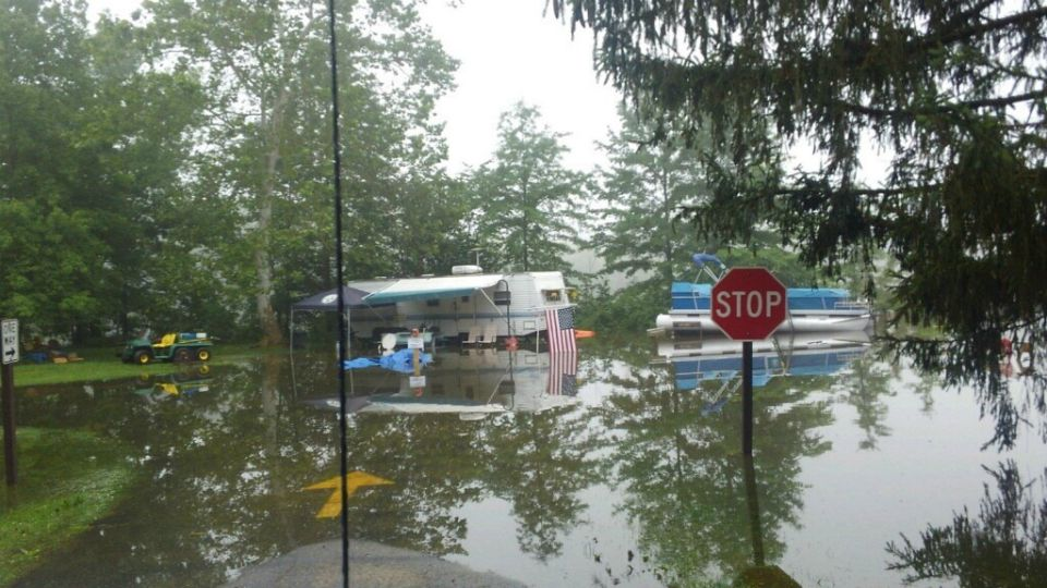 Flooding closes campground at Berlin Lake