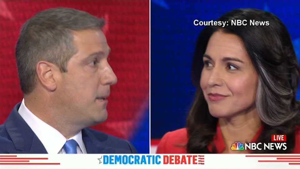 Valley Congressman Tim Ryan squabbled with Hawaii Rep. Tulsi Gabbard during the first round of the Democratic presidential debates.