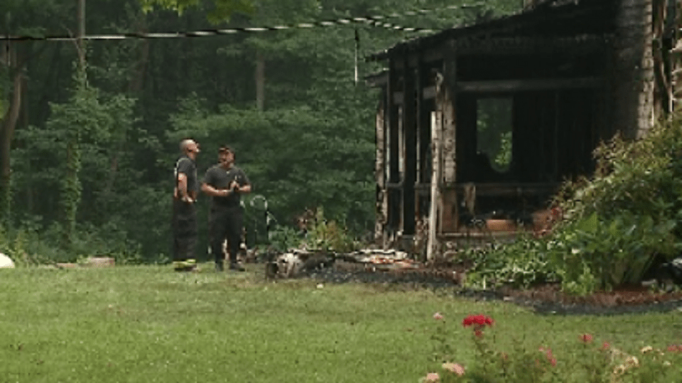 House destroyed in Windham, Ohio fire