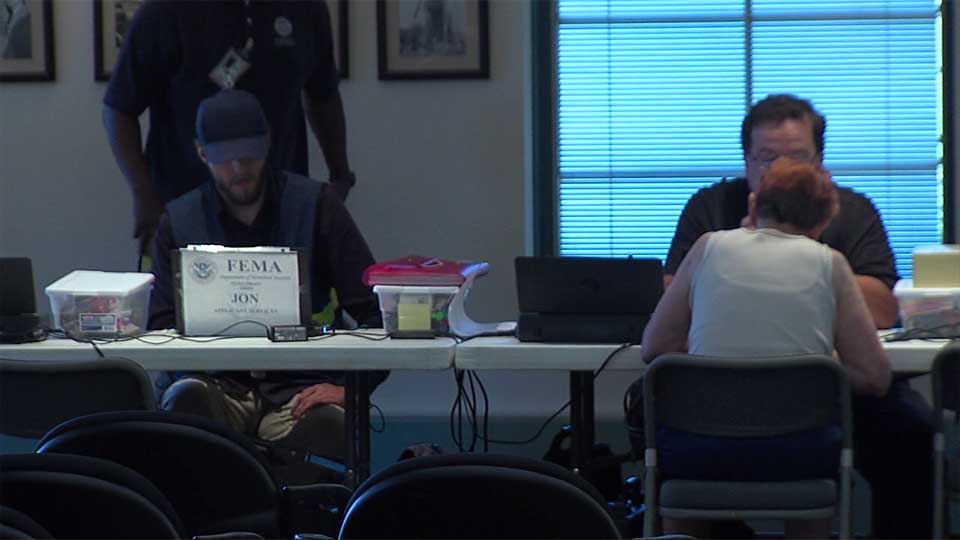 FEMA set up a local office to help flood and storm victims.