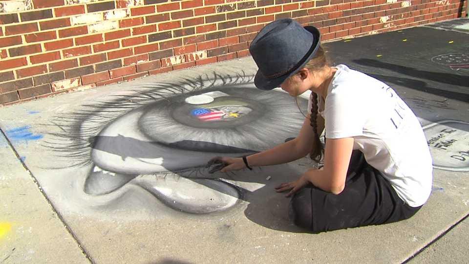 Columbiana chalk art competition