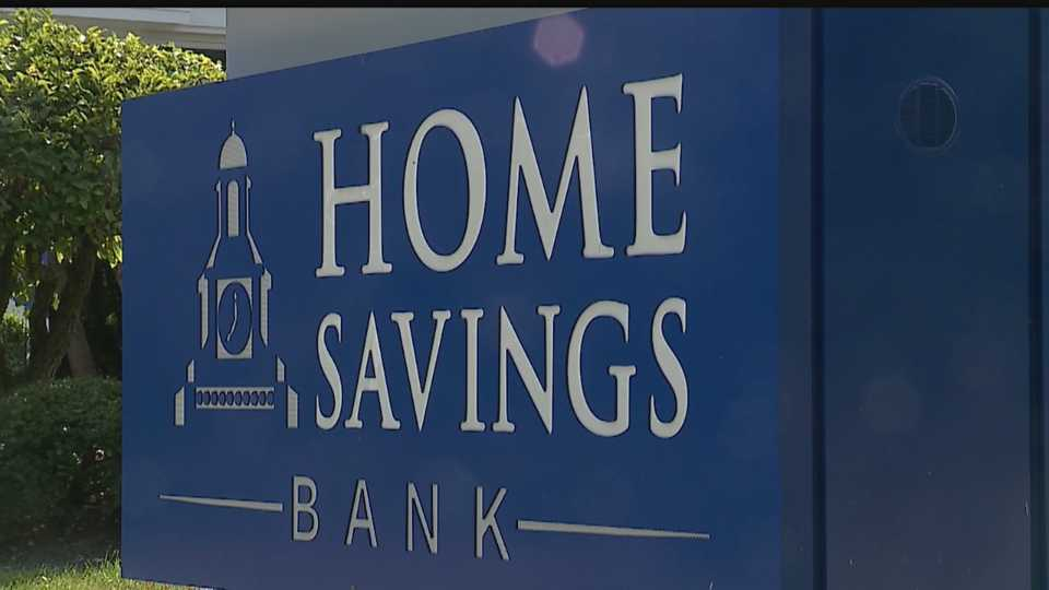 Home Savings Bank sign