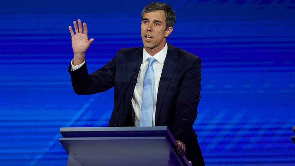 Democratic presidential candidate former Texas Rep. Beto O'Rourke answers a question Thursday, Sept. 12, 2019, during a Democratic presidential primary debate hosted by ABC at Texas Southern University in Houston.