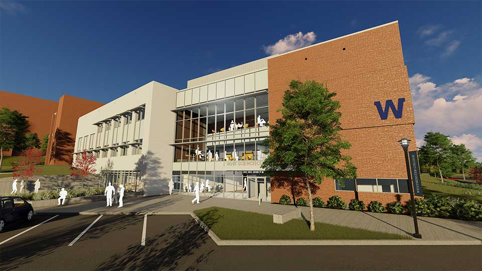 Westminster College broke ground Friday on its $11.2 million expansion of the campus' Hoyt Science Center.